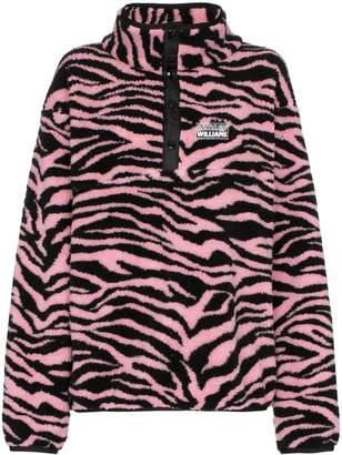 JuJu Ashley Williams tiger print button-neck fleece