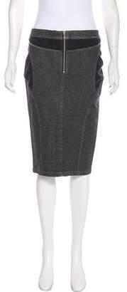 Dolce & Gabbana Sheer panel Knee-Length Skirt