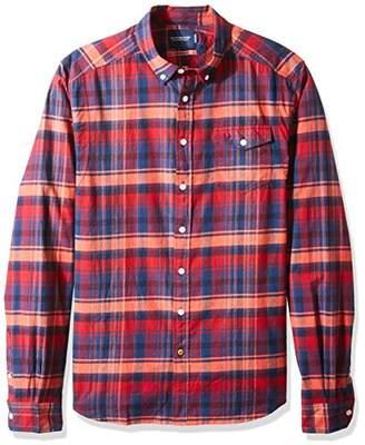 Scotch & Soda Men's Lightweight Brushed Flannel Shirt Workwear Elements