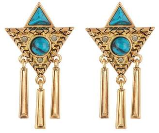 House Of Harlow turquoise statement earrings