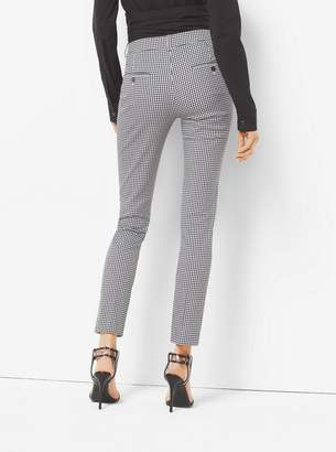Michael Kors Samantha Gingham Stretch-Cotton Skinny Pants