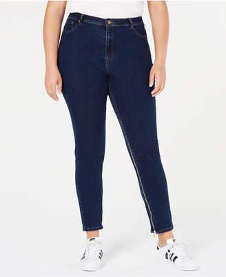 Anthony Logistics For Men Lala Trendy Plus Size Power-Zip Skinny Jeans