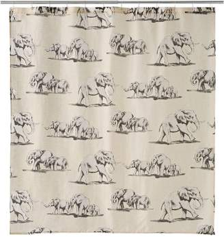 Famous Home Fashions Ghana Elephant Shower Curtain