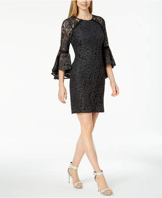 Calvin Klein Bell-Sleeve Lace Dress