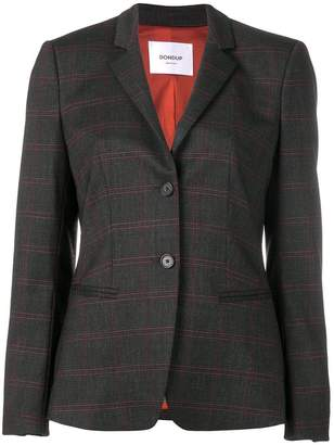 Dondup plaid fitted blazer