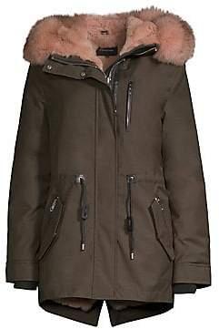 Mackage Women's Chara-X Fox& Rabbit Fur-Trim Down Coat