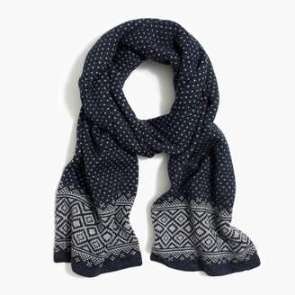 J.Crew Fair isle scarf