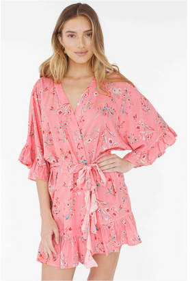 Plum Pretty Sugar Flutter Robe