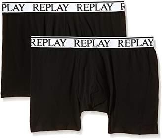Replay Men's M606001 Pack 2 Retro NOOS Boxer Shorts,X-Large