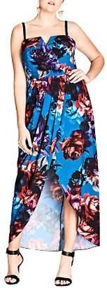 City Chic Plus Jewel Floral Maxi Dress