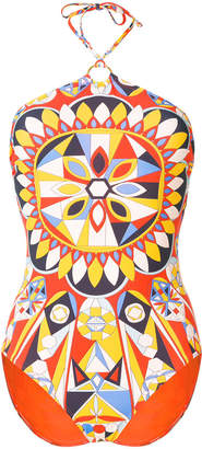 Tory Burch all-over print swim suit