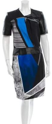 Helmut Lang Short Sleeve Patterned Dress w/ Tags