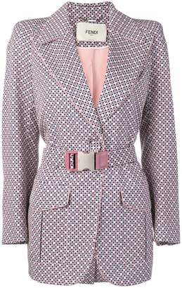 Fendi printed structured blazer