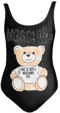 Moschino Women's Bear Print Bodysuit - Black - Size 36 (2)