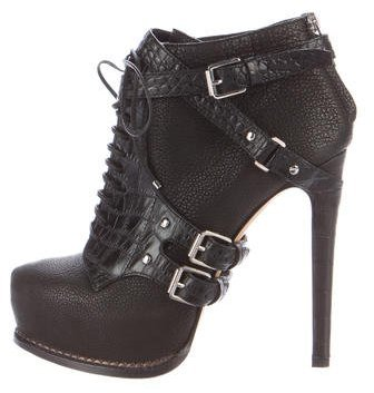 Christian Dior Guetre Lace-Up Booties
