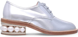 Nicholas Kirkwood Casati patent leather pearl derbys
