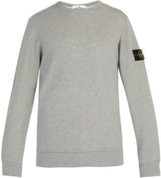 Stone Island Cotton Jersey Sweatshirt - Mens - Grey