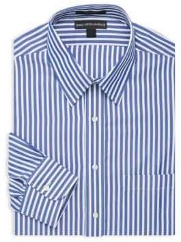 Saks Fifth Avenue Bengal Striped Dress Shirt