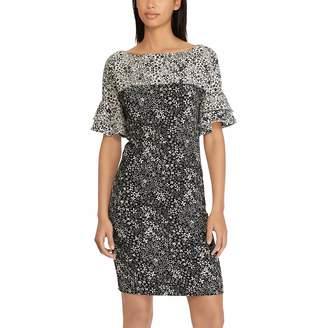 Chaps Women's Floral Ruffle-Sleeve Sheath Dress