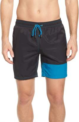 Mr.Swim Mr. Swim Colorblock Print Swim Trunks
