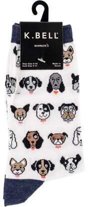 K. Bell Novelty Crew Socks - Dog Profile