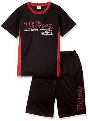 Wilson (ウィルソン) - (ウィルソン) Wilson 上下セット Tシャツスーツ 18SS WX5785 [ジュニア] WX5785 08 ブラック 150