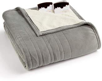 Biddeford Microplush Reverse Faux Sherpa Heated King Blanket Bedding