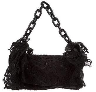 Prada Pizzo Lace Chain Flap Bag