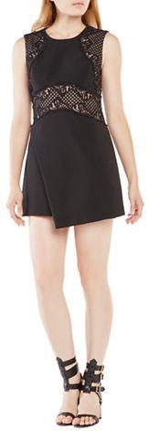 BCBGMAXAZRIABcbgmaxazria Leandra Lace-Blocked Wrap Dress
