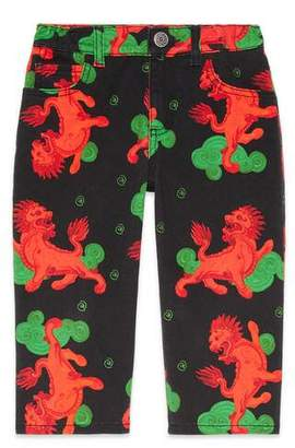 Gucci Children's printed cotton trousers