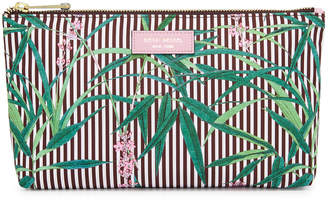 Henri Bendel Palm Tree Large T Gusset Cosmetic Bag