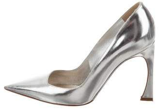 Christian Dior Songe Metallic Leather Pointed-Toe Pumps