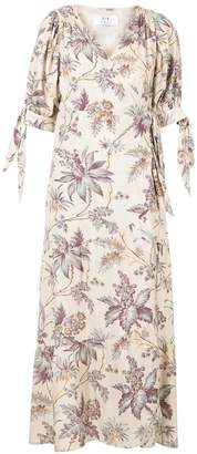 Sir. floral-print wrap dress