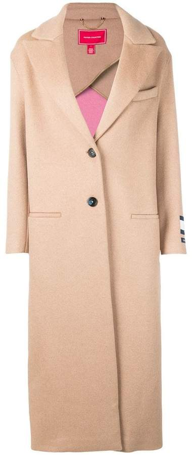 long single-breasted coat