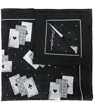 Dolce & Gabbana deck of cards scarf