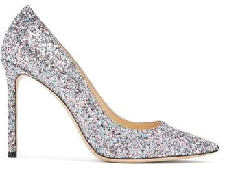 Jimmy Choo Romy 100 Glitter Pumps - Womens - Blue Multi