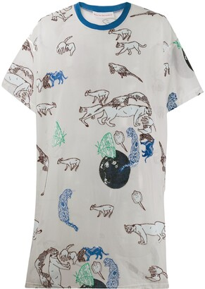 Walter Van Beirendonck Pre-Owned 2015's Whambam! long netted T-shirt