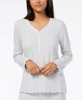 Ande Waffled Henley Pajama Top