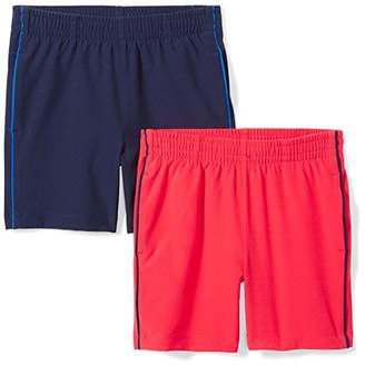 Spotted Zebra Big Boys' 2-Pack Active Woven Shorts
