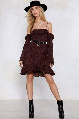 Nasty Gal Sleeve It at That Floral Dress