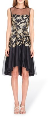 Women's Tahari Embroidered Fit & Flare Dress $158 thestylecure.com