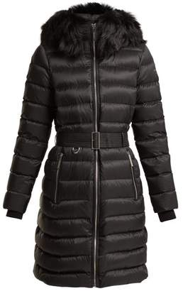 Burberry Limefield Quilted Down Filled Belted Coat - Womens - Black