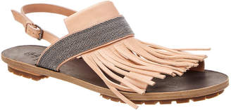 Brunello Cucinelli Fringe Leather Sandal