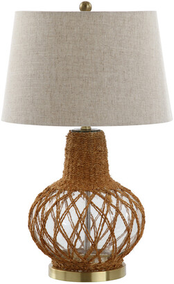 Jonathan Y Designs 28.5In Joseph Glass & Rope Led Table Lamp