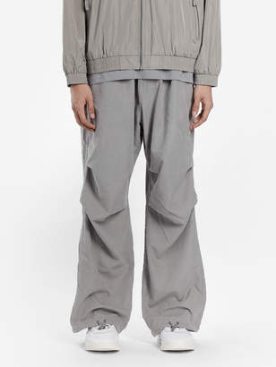 032c GREY CARGO PANTS WITH BACK FLAP POCKETS AND DRAWSTRINGS