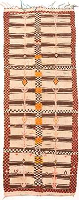 BEIGE Moroccan Berber Rug Handwoven Berber Rug, Wool, Beige, 350 x 130 x 1 cm