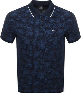 37c9d2e0 Armani Exchange Paisley Polo T Shirt Navy