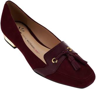 Isaac Mizrahi Live! Suede Flats with Tassel Detail