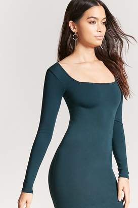 Forever 21 Square Neck Bodycon Dress