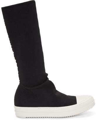 Rick Owens Black Sock Sneaker High-Top Boots